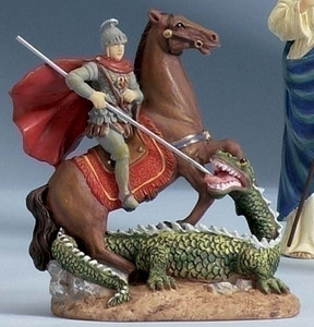 "3.5"" Saint George Statue and Prayer Card Set"