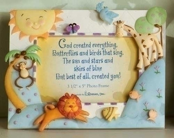 God Created Everything Photo Frame
