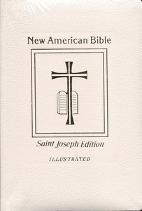 White Bonded Leather New American Revised Edition Bible