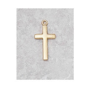 18KT Gold on Sterling Silver Cross Baby Necklace