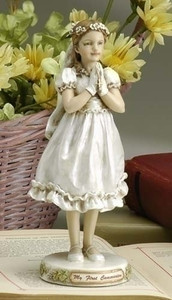 First Communion Girl Figurine