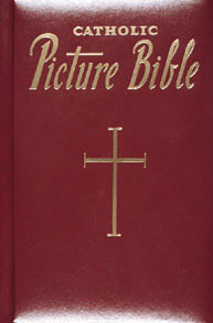 Burgundy Catholic Picture Bible