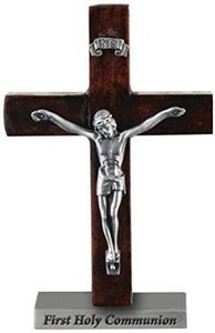 First Holy Communion Wooden Crucifix