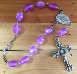 Light Amethyst One Decade Auto Rosary