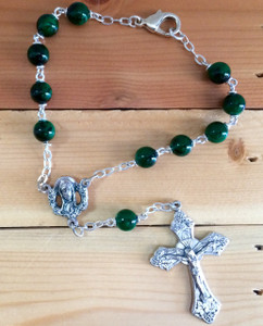 Emerald One Decade Auto Rosary