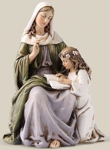 "4.5"" Saint Anne Statue Renaissance Collection"