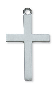 Plain Pewter Cross