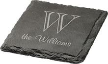 Personalized Slate Square Coasters
