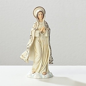 "4"" Our Lady of Fatima Statue and Prayer Card Set"