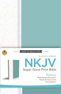 NKJV Super Giant Print Bible - Blue