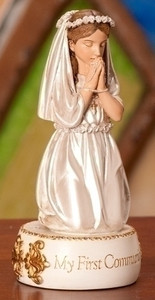 "5.5"" First Communion Girl Figurine"