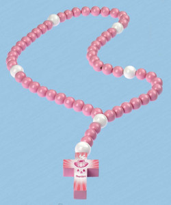 My First Baptism Rosary Pink