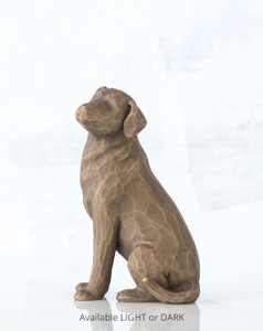 Love my Dog (dark)  Willow Tree® Figure