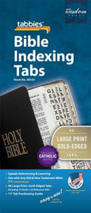 Bible Tabs: Gold Edges with Black Lettering (Catholic) - Large Print