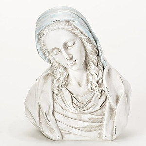 "8"" Distressed Madonna Bust Figure"