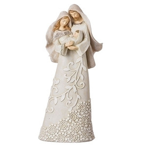 "Ivory Lace 9.5"" Holy Family Figure"