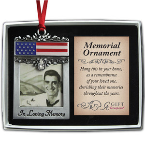 Military In Loving Memory Photo Ornament
