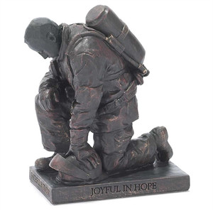 Kneeling Firefighter Figurine