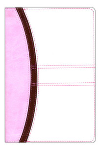 Hand Size Giant Print Reference Bible-KJV (Pink/Brown/White)