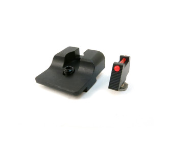Sevigny Competition Fiber Optic Front and Black Rear Sight Set for Glock by Warren Tactical