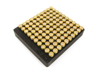 100-Hole 45 ACP Chamber Checker Cartridge Case Gauge - Anodized Black Hundo Casegauge
