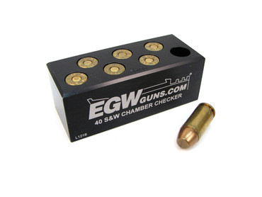 40 S&W 7-Hole Chamber Checker Case Gauge by EGW (70130