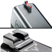 Taran Tactical TTI Ultimate Fiber Optic Front Sight & Black Rear Sight Set for Glock