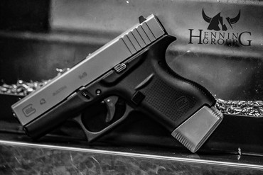 Glock 43 +2 Magazine Grip Extension by Henning