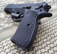 CZ 75 / SP01 / Shadow 2 Palm Swell Bogies G10 Grips by Lok Grips