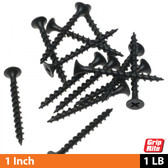 Grip-Rite Drywall Screws, Course Thread, 1 LB Box