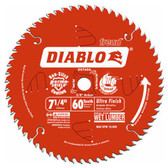 Freud Diablo D0760A 7-1/4 in. x 60-Tooth Fine Finish Saw Blade