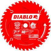 Freud Diablo  D0740A 7-1/4 40 Tooth ATB Finishing Saw Blade with 5/8-Inch Arbor