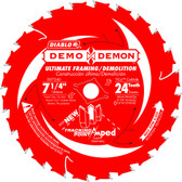 Freud Diablo D0724DA 7-1/4 in. 24-Tooth Demo Demon Tracking Point Amped Saw Blade