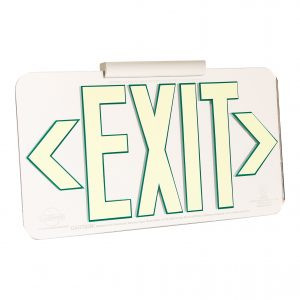 LumAware Mirrored Finish EXIT Sign
