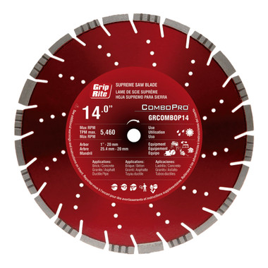 Grip-Rite GRCOMBOPRO14 14-Inch Diamond Saw Blade