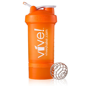 BlenderBottle® Vive Prostak 22oz. Shaker Bottle - Orange & White
