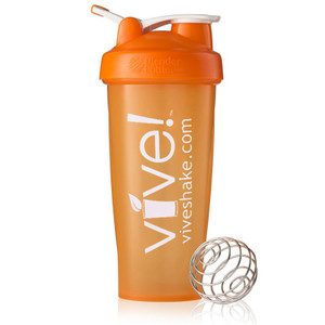 BlenderBottle® Vive Classic 28 oz Shaker Bottle - Orange & White