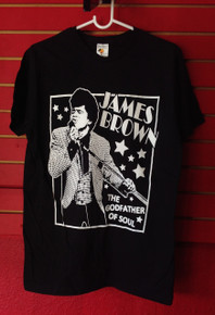 James Brown Godfather of Soul T-Shirt in Black
