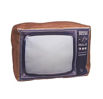 Retro Pillow - Old School TV Set