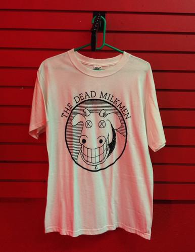 The Dead Milkmen Cow Logo T-Shirt in White