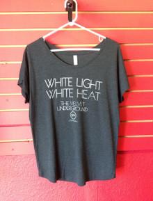 Velvet Underground White Light Girls Cut T-Shirt in Dark Grey