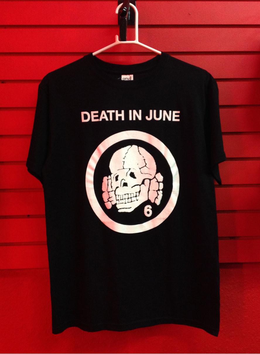 death in june totenkopf 6 logo t shirt. Black Bedroom Furniture Sets. Home Design Ideas