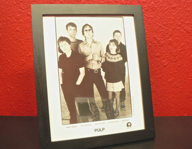 Framed Pulp / Jarvis Cocker Press Photo with Band Bio - This Is Hardcore Album