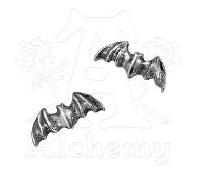 Alchemy of England English Pewter Bat Stud Earrings