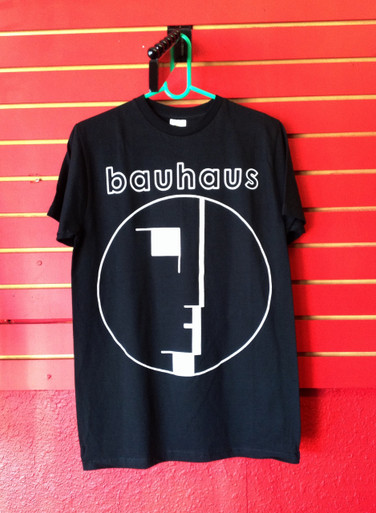Bauhaus Face Logo Black T-Shirt