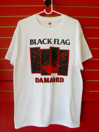 Black Flag Bars Logo Damaged T-Shirt SST Records
