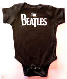 Beatles Logo Baby Onesie in Black