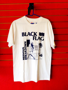 Black Flag Nervous Breakdown T-Shirt in White