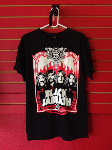 Black Sabbath Flames T-Shirt in Black