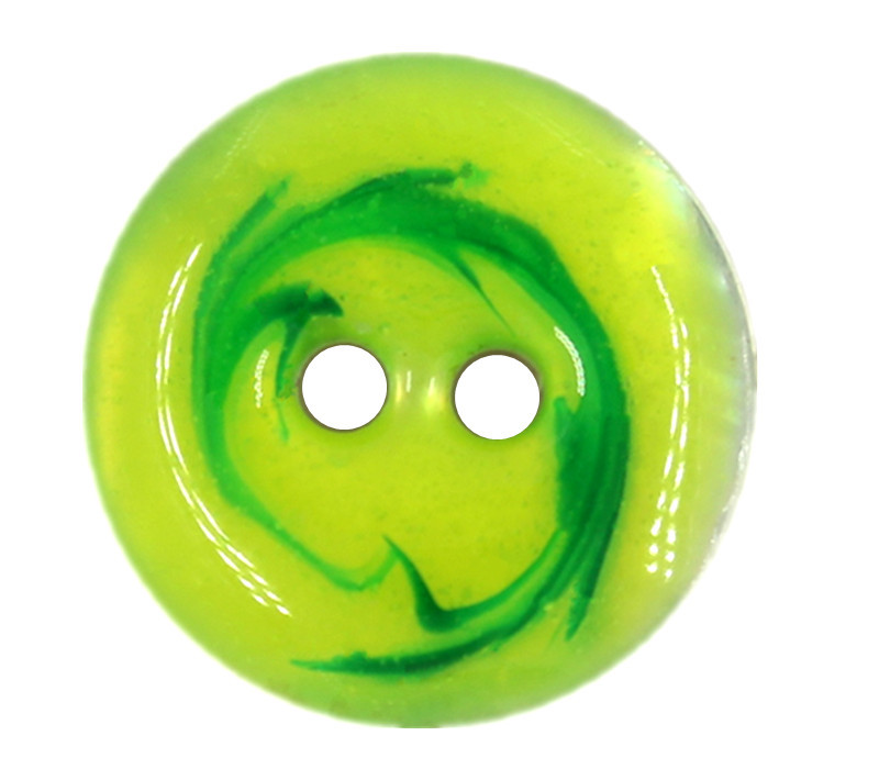 ... Random Latte Art Style Lime Green Shell Buttons - 15mm - 5/8 inch